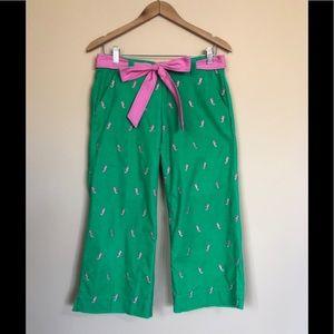 Lilly Pulitzer Seahorse Corduroy Pants Sz 2
